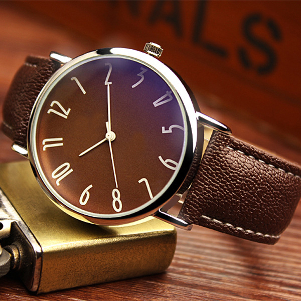 Personality Blu-ray Business Belt Watch Men's Fashion Fashion Belt Male Watch Students Ultra-thin Waterproof Quartz Watch третий лишний blu ray