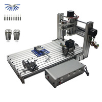 DIY mini cnc engraving machine 6030 400W spindle with free cutter and collet