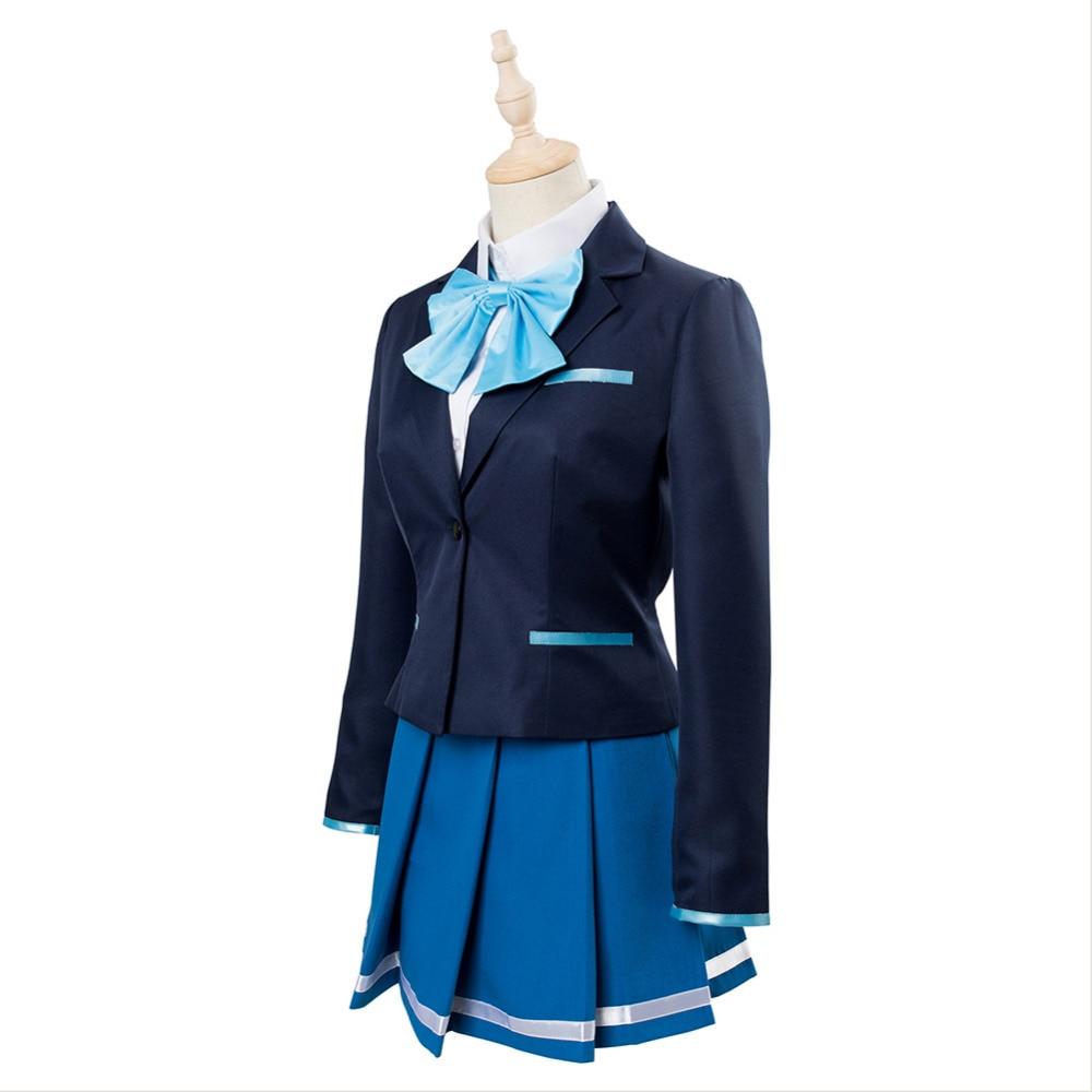Hitomi Tsukishiro Iroduku Sekai no Ashita kara Dress Uniform Cosplay Costume Hot