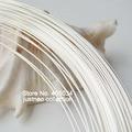 Серебряной проволоки, 0.8 мм калибра 20 жесткий круглый твердые стерлингового серебра 925 проводка провода для ювелирных изделий DIY, бисероплетение провода, аксессуары