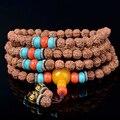 New! Экзотические Тибетский 108 джапа мала бусины браслета истинный религиозный мужчины Буддийский ожерелье