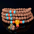 New!!Exotic Tibetan  108 japa mala beads bracelet  true religious men  Buddhist necklace