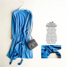 Robe Pull Femme Hiver 2016 Hiver Dames Laine Tricoté Chandail Robes Pour Femmes V-cou À Manches Longues Genou Longueur Robe Portefeuille