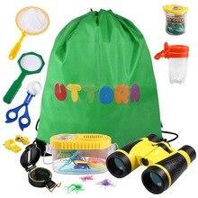 Купить с кэшбэком Kids Binoculars Toy Baby Toys Set Outdoor Exploration Set, for 3 4 5 6-12 Year Old Boy and Girl, Adventure Kit, Children Gift