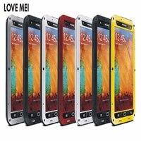 Original LOVE MEI Life Waterproof Metal Case for SAMSUNG Galaxy S6 S7 Edge S8 S9 S10 Plus S10E Note 9 8 3 Edge A3 A5 A7 A9 A8s