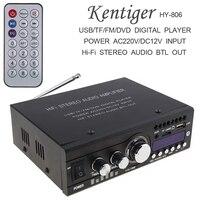 Kentiger DC12V/AC220V/AC110V Bluetooth 2CH Hi Fi Car Stereo Audio Power Amplifier Digital Player Support USB / SD / FM / DVD