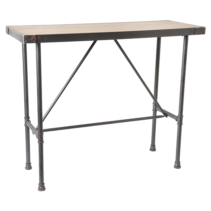 New special antique pine coffee table wrought iron high - How tall should a coffee table be ...