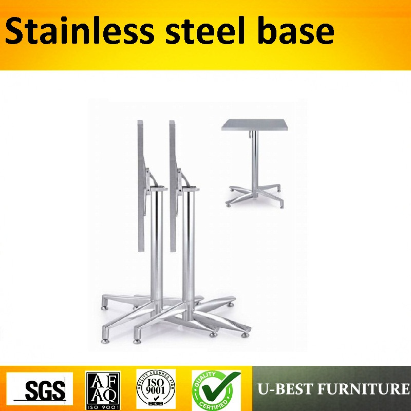 U-BEST  square table base stainless steel adjustable height metal table legs for factory custom made wooden table topsU-BEST  square table base stainless steel adjustable height metal table legs for factory custom made wooden table tops