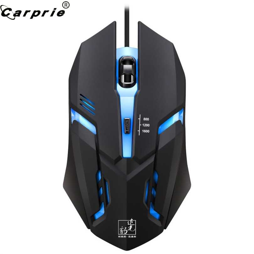 Professional Wired Mouse LED Light 4 Buttons 1600DPI Optical USB Ergonomic Pro Gamer Gaming Computer Mouse 90214