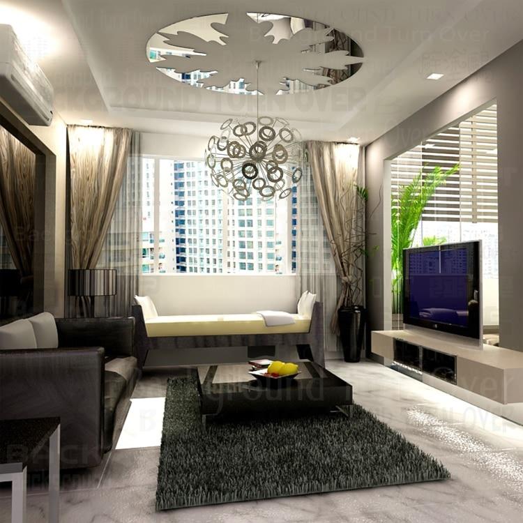 diseo moderno redondo reflexivo pegatinas de techo sala de estar dormitorio decoracin d acrlico espejo de