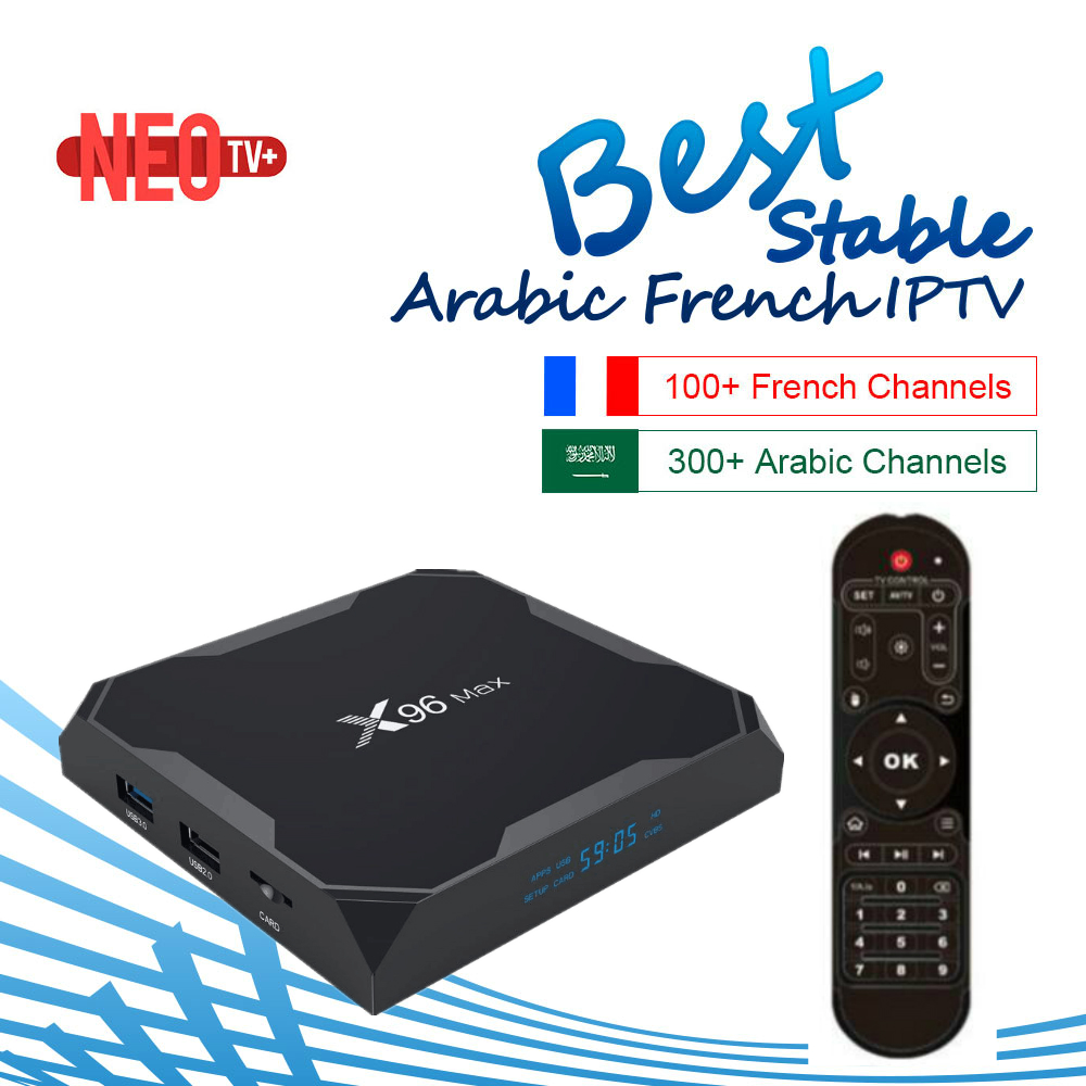 X96 Max Android 8 1 Smart TV Box 1400 Live with 1 Year Best French IPTV