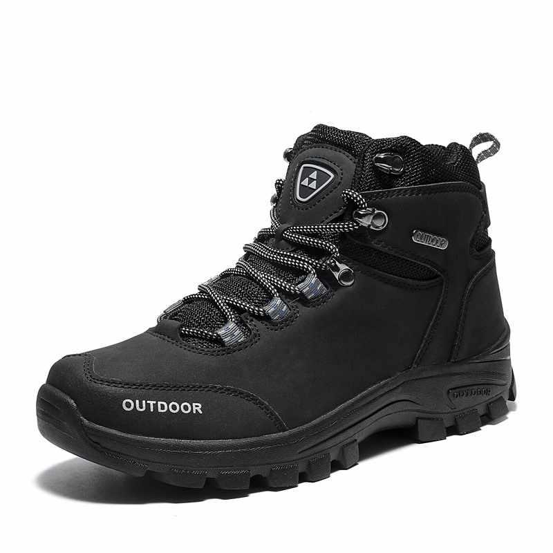 VESONAL/Новинка 2019 года; брендовые кожаные зимние мужские ботинки; обувь для походов на открытом воздухе; сезон осень-зима; теплые мужские повседневные ботинки; кроссовки для работы