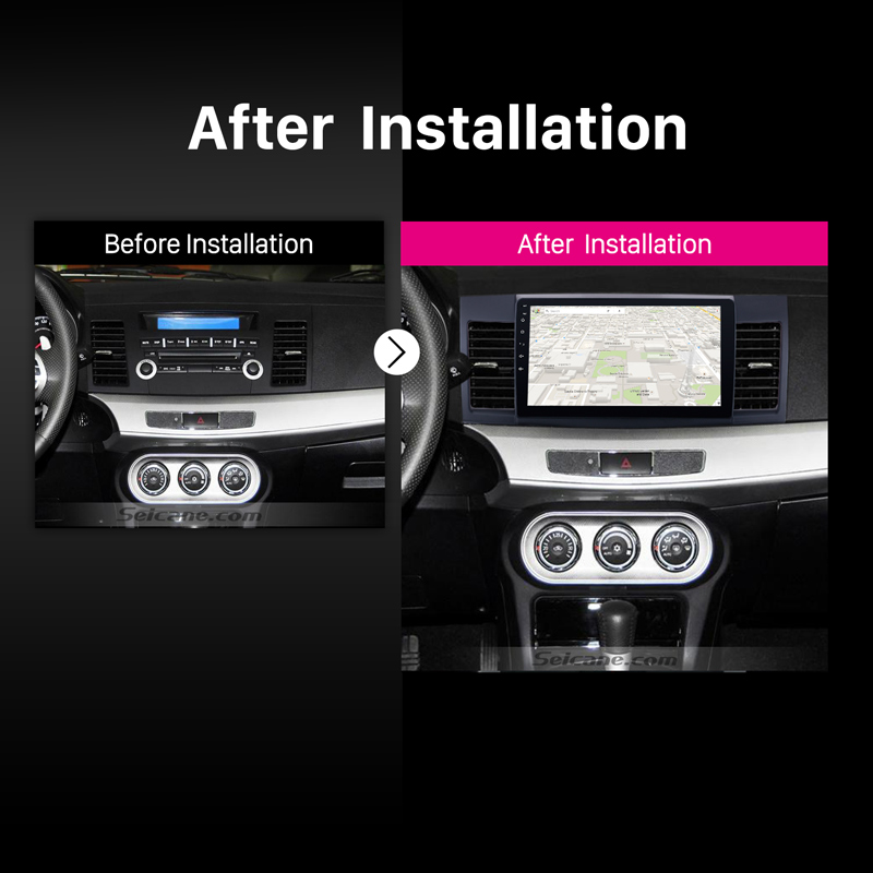 """Seicane Android 7.1/6.0 Quad Core Car Stereo GPS Navigation Radio Player for 2008-2015 Mitsubishi Lancer-ex with FM 10.1"""""""