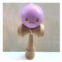 6 см Клубничные животные Kendama шары деревянные жонглирование умелые профессиональные спортивные игрушки для детей и взрослых