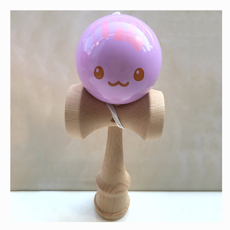 6CM Strawberry Animal Kendama Balls Wooden Juggling Skillful Professional Outdoor Sports Toys For Kids Adults
