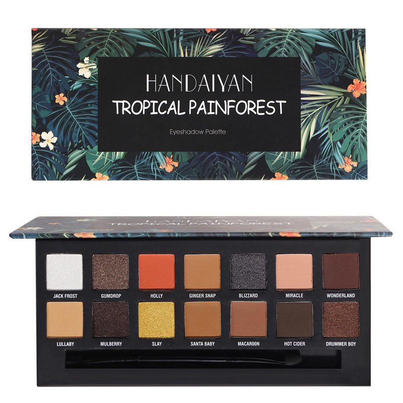 Brand New Emancipation 14 Color Matte Eyeshadow Palette Metallic Makeup Shimmer Eye Shadow Powder Smooth Texture Natural