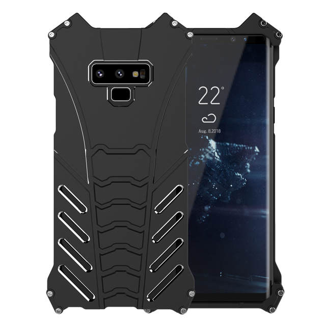 sports shoes cfe78 541a3 US $16.49 45% OFF|Luxury Metal Aluminum Case For Samsung Galaxy Note 9  Marvel Batman Elements Hard Protection Cover For Samsung Note 9 Case  Note9-in ...