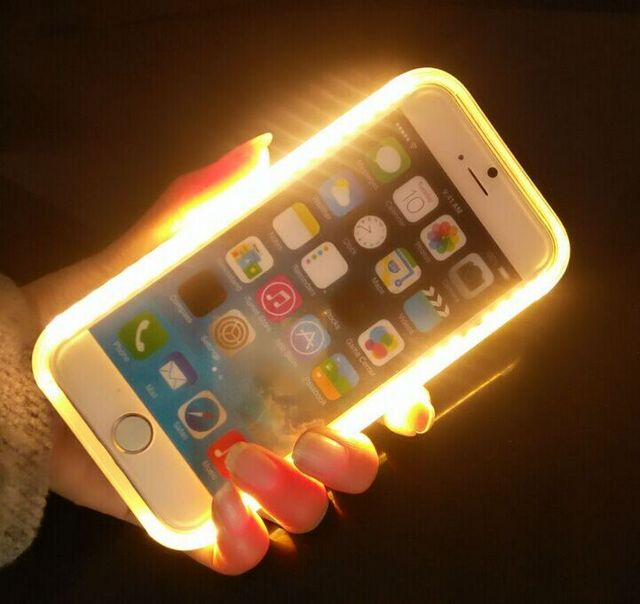 online store d1b69 b1b78 US $10.24 |LED Light Selfie Luminous Phone Cases for iPhone 6 6S 6Plus  Protective Flashlight Back Cover for Samsung S6 S6 edge S7 S7 edge on ...