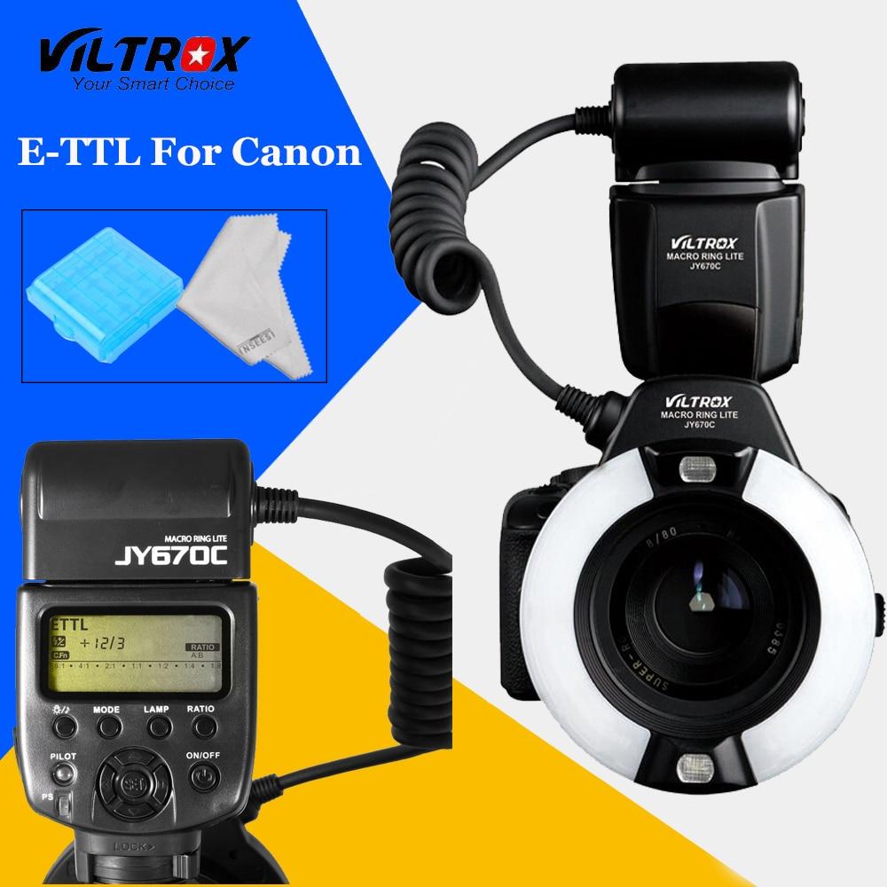 Viltrox JY-670C Photography Camera LED Macro Ring Flash Light jy670c for Canon 750D 650D 600D 550D 60D 700D 70D 7D5D DSLR Camere