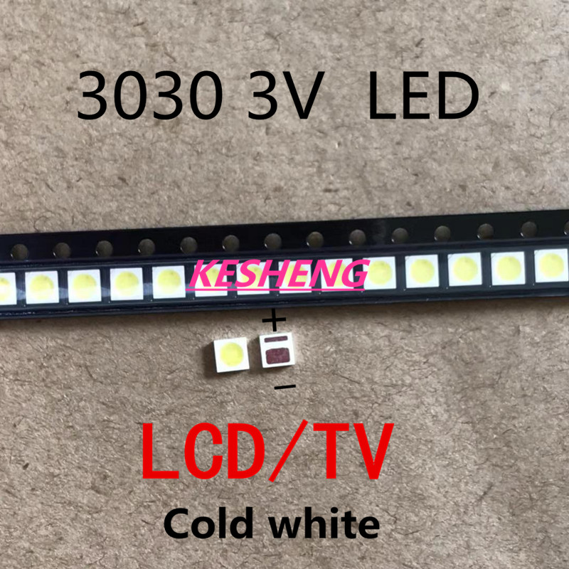 EVERLIGHT 30pz Retroilluminazione UN LED 1 W 3030 3 V bianco Freddo 80-90LM TV Application nuovo