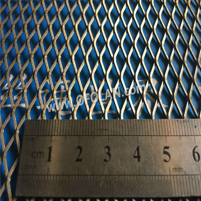 Diamond Hole 5.0mm*12mm Titanium Expanded Filter Mesh For Battery Electrode(Gr1 In Stock) Factory Direct Sales 10cm*20cm