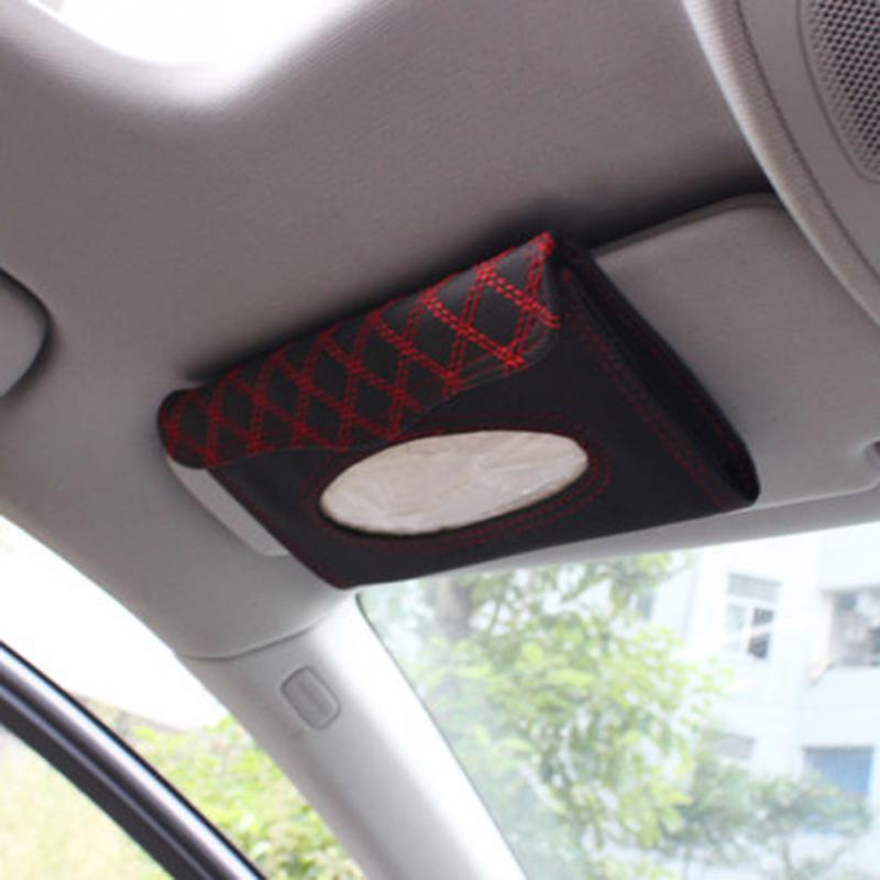 Car visor tissue box car accessories Cli