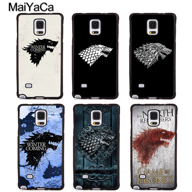 MaiYaCa Game Of Throne Stark winter is coming Soft Rubber Phone Cases For Samsung Galaxy S6 S7 edge S8 S9 plus Note 4 5 8 Cover