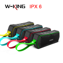 W-king S9 Outdoor Speakers Wireless Bluetooth Speaker Portable Waterproof with Radio for Bicycles 6W shower Bluetooth Speakers