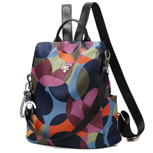 New Oxford Cloth Women Backpack Anti Theft school bags for teenage girls Travel Daypack Shoulder Bag Colorful Fashion Backpack new limited quantity men and women colorful plaid mosaic backpack rainbow magic cube double shoulder bag school book bags