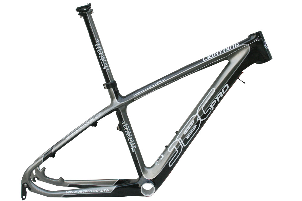 JBC Lightning Carbon MONOCOQUE MTB Frame With Seat Post And BB30 18
