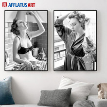 Sexy Marilyn Monroe Wall Art Canvas Painting Nordic Posters And Prints Black White Vintage Pictures For Living Room Decor