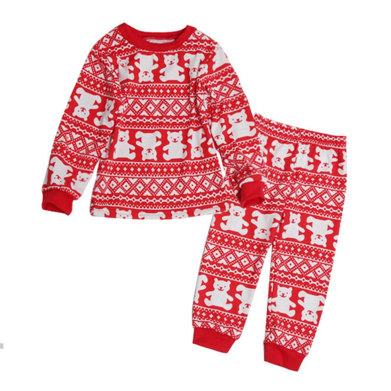 2017 New Autumn Winter Family Matching Clothes Santa Suit Christmas Matching Family Clothes Pajama Set