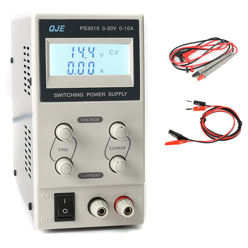 QJE LCD Display Adjustable Variable Portable Mini Compact Laboratory Switching DC Power Supply Output 30V 10A AC 220V 0 30v 0 20a output brand new digital adjustable high power switching dc power supply variable 220v