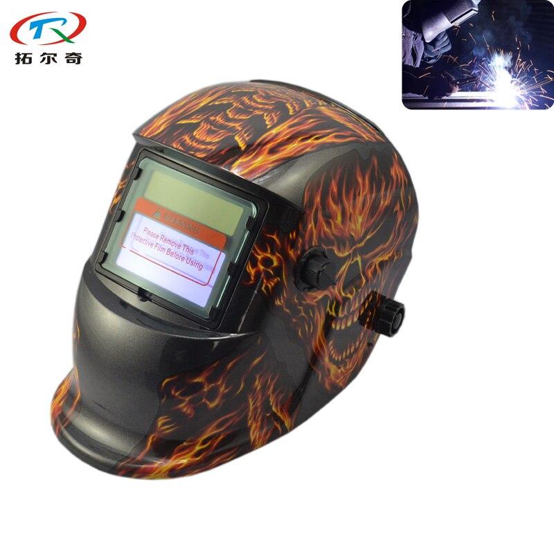 Welding & Soldering Supplies Just Fire Sticker Welding Helmet Automatic Darkening Filter Lens Din9-13 Grinding Function Tig Mig Arc Welding Trq-hd32-2200de Elegant Appearance