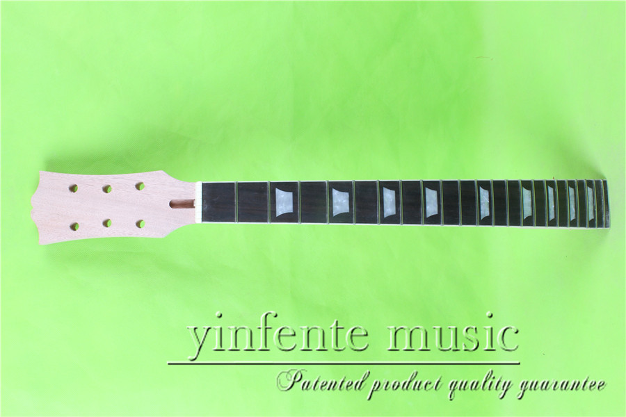 L 133# one unfinished 24.75 Electric guitar neck rosewood fingerboard fine quality 22 fret holt on black color 24 frets holt on one electric guitar neck mahogany wood and rosewood fingerboard 171