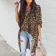 Women Leopard Print Shirt Batwing Sleeve Blouse Summer Casual V-neck Shirts Blouses стоимость