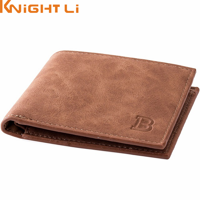 Men Wallets Top Pu Leather Vintage Design Purse Men Brand Famous Card holder Mens Wallet carteira masculina Wholesale price