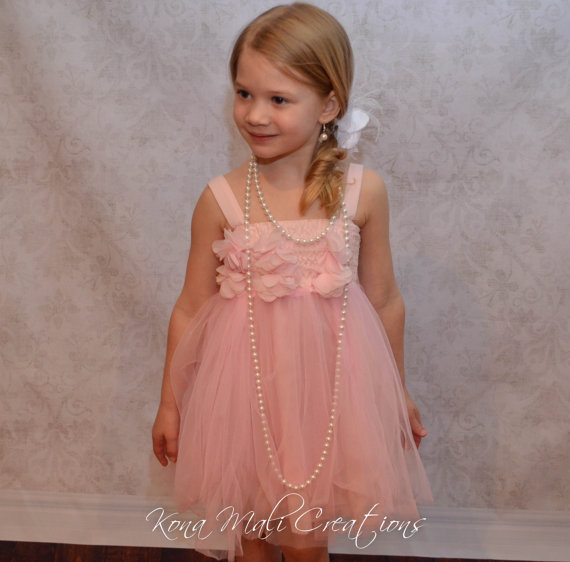 So Pretty Pink   Flower     Girl     Dresses   for Wedding Pageant   Dresses   Sleeveless Short Organza Prom-  Dress  -Children with   Flower