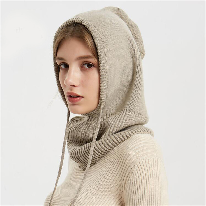 Xthree Cashmere Winter Knitted Hat Beanie Women Scarf Skullies Beanies Winter Hats For Women Men Cap Solid Bonnet Mask Brand Hat 5