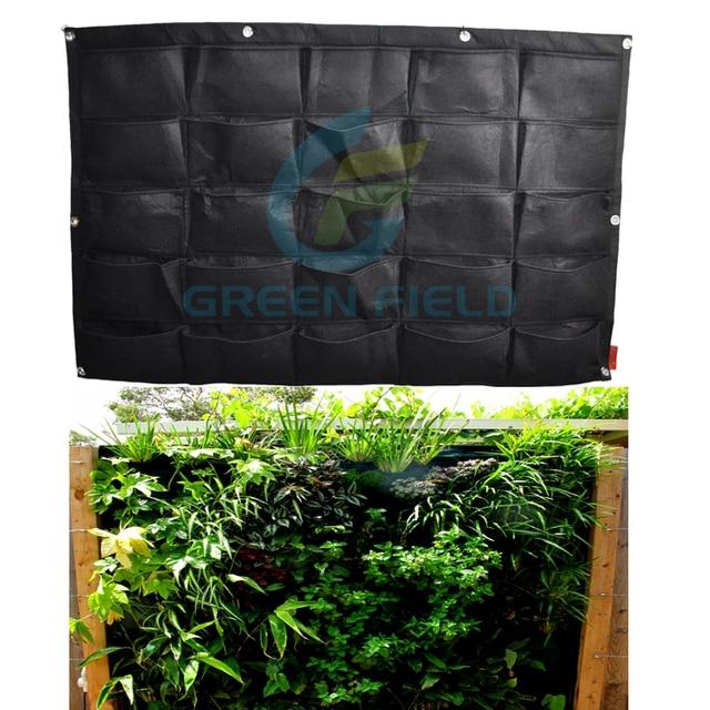 25 pockets outdoor indoor vertical garden herb flower planting bag home garden vertical garden planter hanging