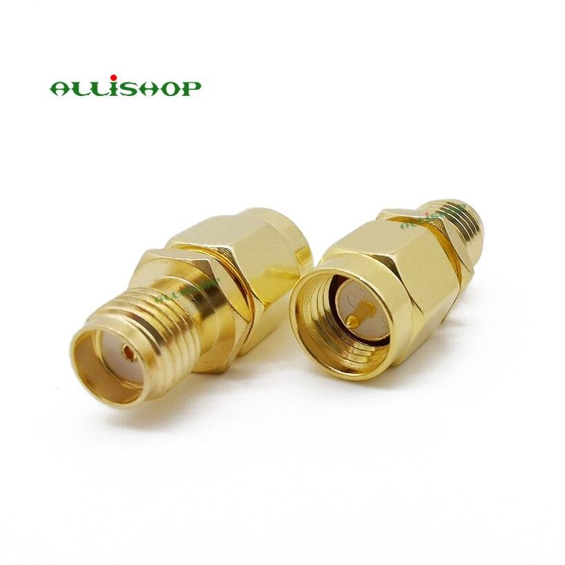1pce SMA Male Plug to Dual SMA Female Jack T edge Splliter RF Adapter Connector