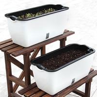 Extra Large Rectangular Basin Automatic Suction Plastic Flower Pots Creative Fleshy Vegetables Balcony Strip European Planter