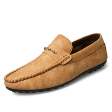 Nice New Arrival Men Fashion Casual Spring Suede Comfortable Driving Shoes Men Shoe Soft Slip-on Men Flats P111