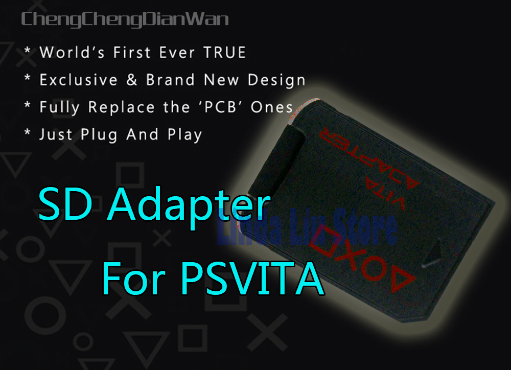 <font><b>V3.0</b></font> For PSVita game card to micro SD/TF card adapter <font><b>SD2Vita</b></font> for PS Vita PSV 1000 2000 ChengChengDianWan image