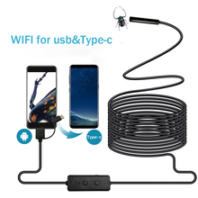 WIFI Endoscope Camera Micro USB Type c USB Inspection Camera 720P HD IP68 8MM Waterproof Tube Snake Borescope Camera