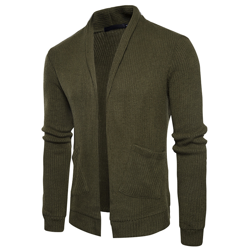Autumn Spring simple Solid color Knitwear Sweaters Mens casual slim fit Cardigan Sweaters for men Top Quality Brand Sweaters