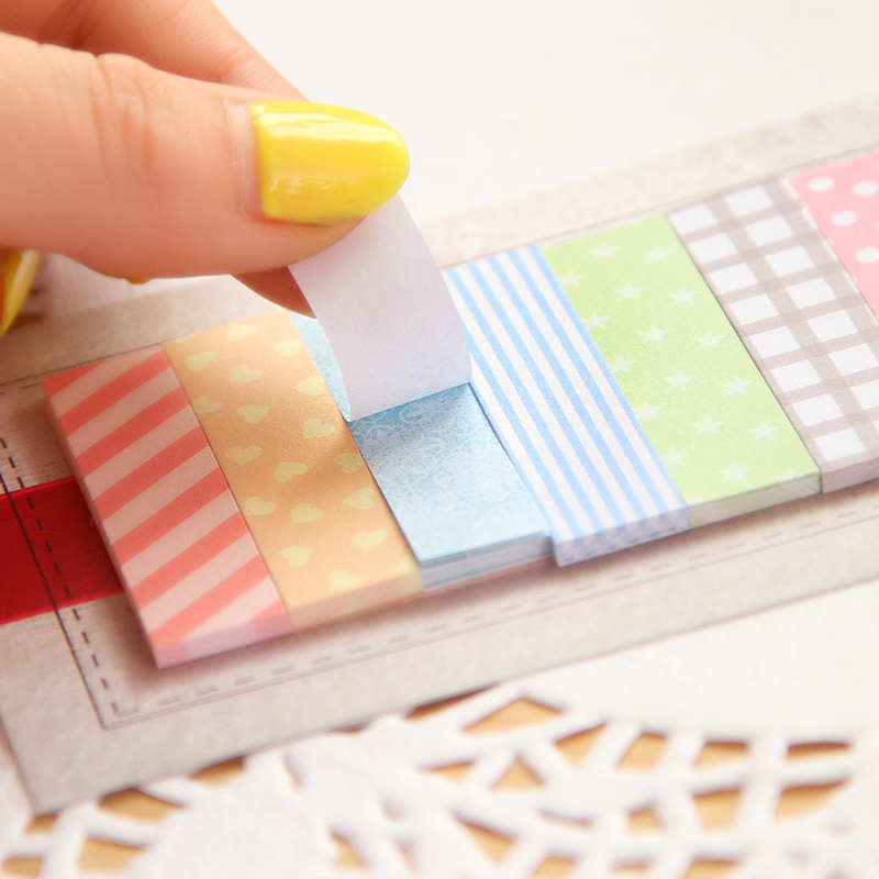160 Pages Cute Sticker Memo Flags Mini Sticky Notes Memo Pad Girls Preference Children Gifts Convenient Office School Supplies