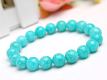 Natural Mozambique Green Amazonite Gemstone Women Men Stretch 10mm Healing Stone Round Beads Bracelet Fashion Jewelry AAAA