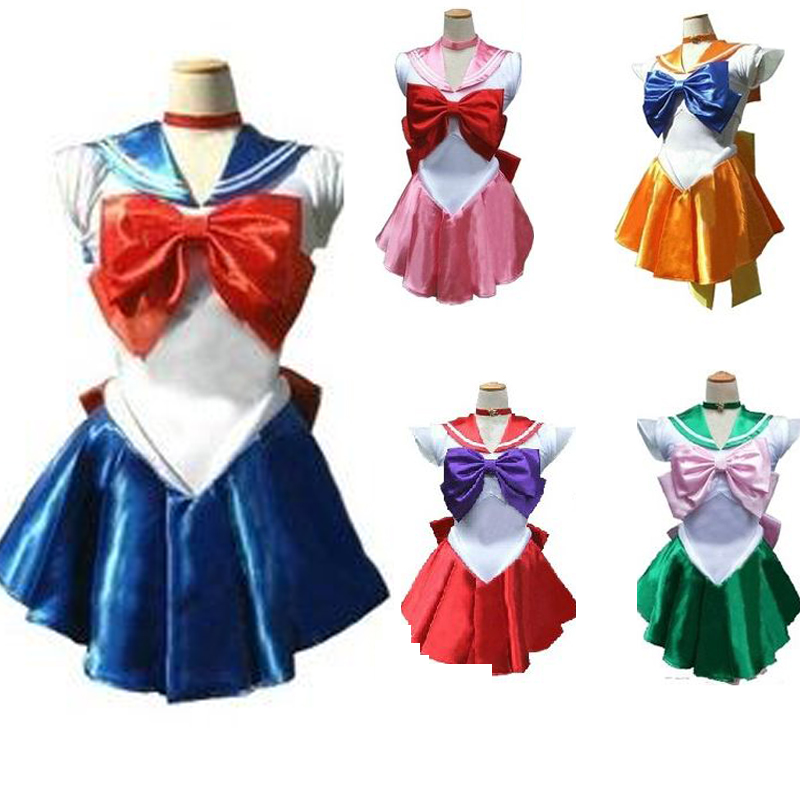 halloween anime costume show sailor moon month rabbit cosplay dress for girls