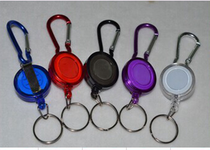 Mulitifunctional Badge Reel Retractable Keychain Recoil ID Card Holder Keyring Key Chains Steel Cord
